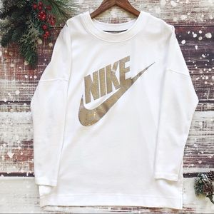 Nike Gold Holiday Sweatshirt